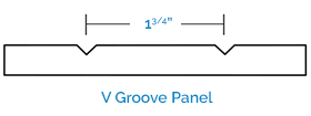 Two-Piece Shaker - V Groove Panel